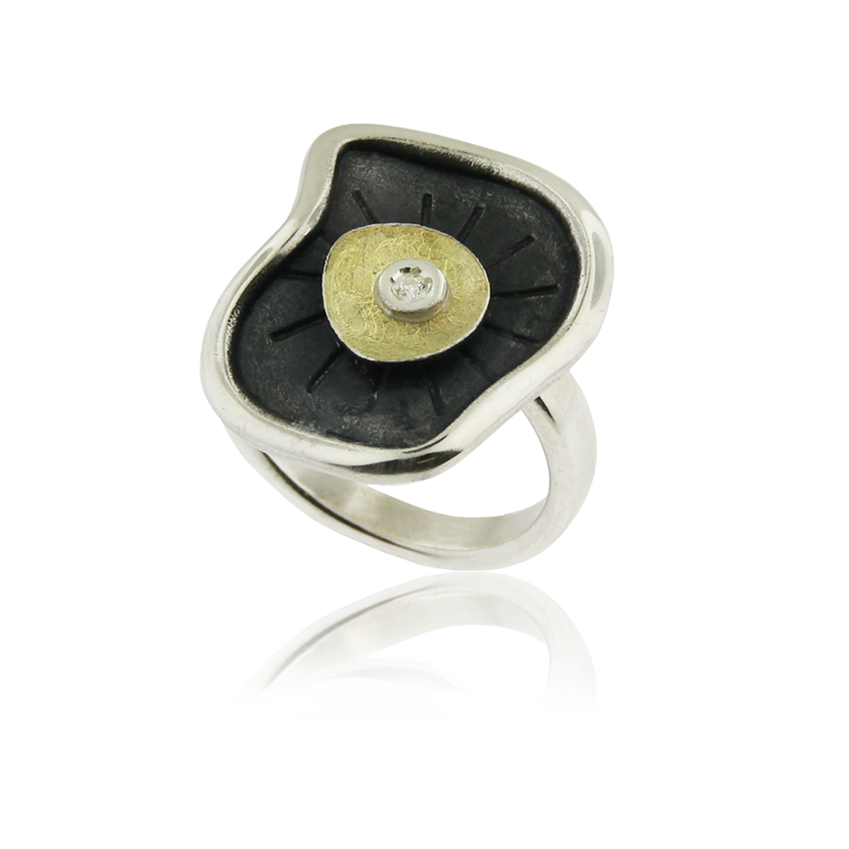 castle-rocks-and-jewelry-audar-lily-pad-silver-gold-ring-S-1955