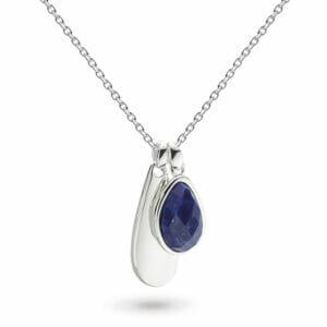 "castle-rocks-and-jewelry-coast-pebble-double-tag-lapis-lazuli-18""-necklace-pendant-silver-kit-heath"