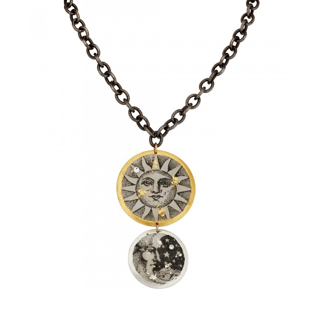 castle-rocks-and-jewelry-sun-moon-double-disk-pendant-gunmetal-chain-evocateur