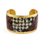 castle-rocks-and-jewelry-houndstooth-black-white-red-cuff-evocateur